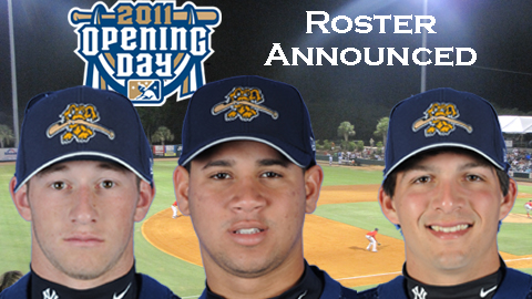 Slade Heatchott, Gary Sanchez, and J.R. Murphy will lead the RiverDogs in 2011.